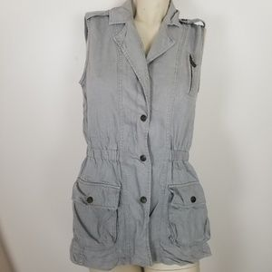 Kenneth cole Reaction grey utility vest size small